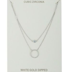 Jewelry - Gold Dipped Circle Charm Necklace